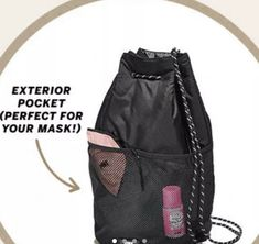 Lightweight great for hiking or camping Adjustable straps Online at Pink for 25$ plus shipping Brand New never used Also will include the free perfume samples the package came with :) Tags still attached Pink Backpacks, Perfume Samples, Drawstring Backpack, Hiking, Camping, Brand New, Tags, Free, Fashion