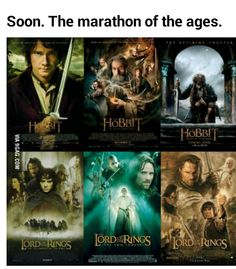 LOTR Extended = 681 minutes Hobbit 1 Extended = 182 minutes Hobbit 2 Extended = approx. 186 minutes Let's say Hobbit 3 Extended is at least 185 minutes The full marathon run time will be around 1234 minutes, or 20 hours 30 minutes bring it on.