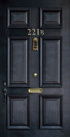 Classic Old Sherlock Holmes 221b door by Three Second