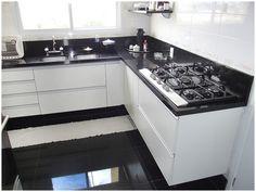 cozinha piso preto - Pesquisa Google