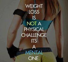 perda de peso não é um desafio físico é o mental