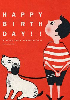 レトロで可愛いイラストでお誕生日お祝い画像を贈れる無料画像 Birthday Photos, It's Your Birthday, Birthday Cards, Happy Birthday, Book Cover Design, Retro, Birthdays, Presents, Snoopy