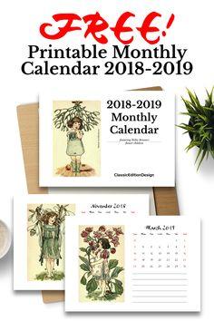 1359 Best Printable Calendars images in 2018 | Calendar, Organizers