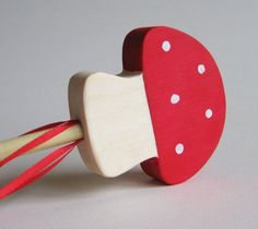 Wooden Fairy Toadstool Wand Waldorf Toy Mushroom by Imaginationkids on Etsy https://www.etsy.com/listing/62443221/wooden-fairy-toadstool-wand-waldorf-toy