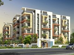 Are you looking to buy Affordable Flats/Apartments in bangalore, Gruha kalyan builders offers Budget 2 BHK, 3 BHK & 1 BHK Low Cost and Luxury Flats with more Facilities. Architecture Building Design, Building Facade, Residential Architecture, Modern Architecture, Building A House, Classic House Design, Small House Design, Town House Floor Plan, Building Elevation