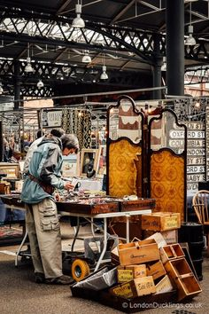 If you're into antiques, make sure to check out London's Old Spitalfields Market #london #markets #antiques Quality Street, London Boroughs, Commercial Street, High Street Brands, Brick Lane, China Sets, Wooden Hand, East London, Things To Buy