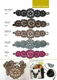 Crochet bracelet idea for belly dancing accessories