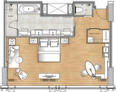 luxury hotel suite floor plan - Google Search
