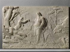 Pietro Paolo Olivieri Creation of Eve White marble relief 44 x cm Art Fair, 16th Century, Rome, Statue, White Marble, Marble, Rum, Sculpture, Rome Italy