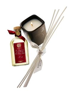 Antica Farmacista  No. 11 Home Ambiance diffuser and candle set. Diffuser, 8.5 ozs., and candle, 8 ozs., in a hinged luxury gift box. $88.    bergdorf goodman