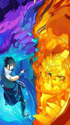 Sasuke Uchiha and Naruto Uzumaki anime naruto Naruto Shippuden Sasuke, Naruto Kakashi, Sasuke Vs, Anime Naruto, Manga Anime, Susanoo Naruto, Naruto Teams, Sasunaru, Narusasu