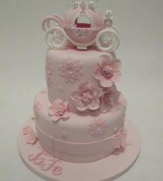Princess Carriage Pink Birthday Cake