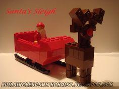 Santa's Sleigh Instructional Build Video, Christmas Lego Creations
