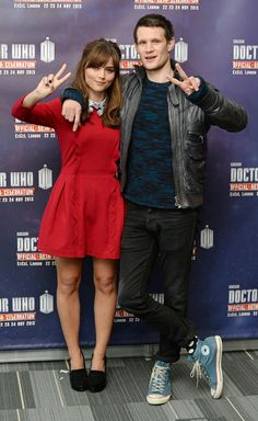 Jenna Coleman as Clara Oswald and Matt Smith as the Eleventh Doctor