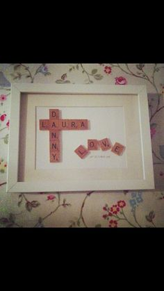 Personalised Vintage Scrabble Art Picture/Frame by SWEETINDIGO, $40.00