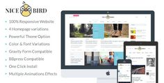NiceBird | Blog and Newspaper WordPress Theme Download