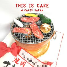 焼肉が食べたくなるケーキ😋💕 #焼肉 #七輪 #肉 #肉大好き #でもケーキ #ケーキ #面白ケーキ #sugarart #sugar #fondantcake #yakiniku #yakinikucake #detailobsessed #cake #cakedecorating #3dケーキ #彫刻ケーキ