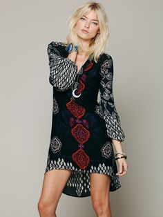 Free People Peacemaker Print Shapeless Dress , $108.00