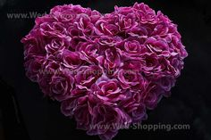 Big flowers heart for wedding car Purple for wedding reception or getaway car Hearts And Roses, Purple Hearts, Valentine Day Gifts, Valentines, Wedding Car Decorations, Big Flowers, Small Heart, Artificial Flowers, Wedding Reception