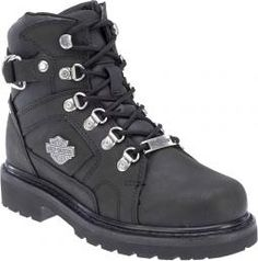 Harley-Davidson® Women's Ester Black Leather Riding Boot