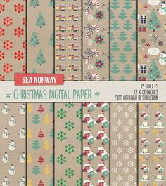 Digital paper christmas Digital paper christmas paper por seanorway