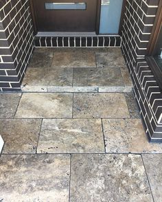 (Silver Travitine) Something different, simple and no maintenance alternative. Travertine Floors, Natural Stones, Tile Floor, Alternative, Flooring, Simple, Silver, Tile Flooring, Wood Flooring