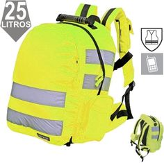 Mochila alta-visibilidad Amarillo A.V. Backpacks, Bags, Suitcases, Yellow, Purses, Totes, Backpack, Lv Bags, Hand Bags