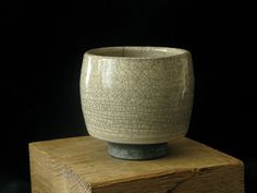 Raku fired Tea Bowl with white crackle by PatrickJoyceCeramics, £20.00