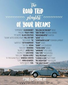 Looking for the perfect playlist for your next trip? Check out this perfect mix of old and new songs for your road trip! Road trip playlist music The Road Trip Playlist of Your Dreams Glasgow, Edinburgh, Drive In, Road Trip Packing List, Road Trip Essentials, Road Trips, Arizona Road Trip, Road Trip Playlist, Song Playlist