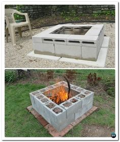 Amazing Cinder Block Fire Pit Design Ideas For Outdoor Cinder Block Fire Pit - There is always a good reason to build a fire pit in your backyard. And when it comes to building a fire pit, cinder block is always a good material to use. Cheap Fire Pit, Easy Fire Pit, Cinder Block Fire Pit, Cinder Block Garden, Cinder Block Ideas, Barbacoa Jardin, Fire Pit Plans, Fire Pit Gallery, Fire Pit Materials
