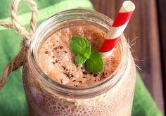 Shake proteico de chocolate ideal para o pós-treino