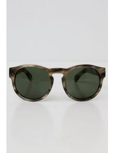 Dries van Noten x Linda Farrow Rounded Sunglasses - Marbled