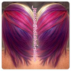Candy land hair. Fun colors