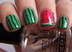 Watermelon Nails! So summery & cute.