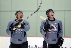 Matt Duchene and Paul Stasny of the Colorado Avalanche