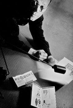 Erik Spiekermann. Photograph: Phil Sayer. Taken for Blueprint, 1989