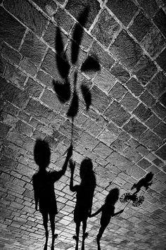 sombras na calçada