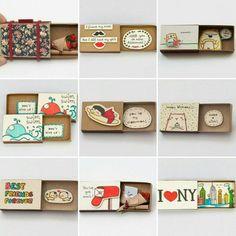 Birthday crafts for girlfriend valentines 61 ideas Crafts For Girlfriend, Birthday Gifts For Girlfriend, Cool Birthday Cards, Birthday Crafts, Valentines Gifts For Him, Valentine Crafts, Matchbox Crafts, Matchbox Art, Diy Gifts For Friends