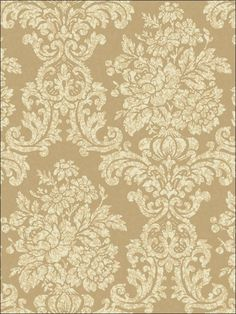 Brewster Home Fashions Artistic Illusion Illume x Damask Embossed Wallpaper Color: Green Wallpaper Stores, Wallpaper Online, Home Wallpaper, Wallpaper Roll, Peel And Stick Wallpaper, Victorian Fabric, Embossed Wallpaper, Gold Damask Wallpaper, Traditional Wallpaper