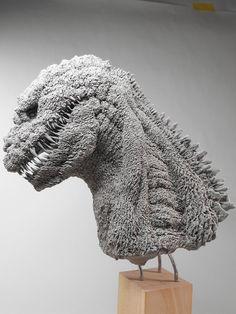 Godzilla Suit, Godzilla Vs, Creature Feature, Creature Design, Godzilla Figures, Sculpture Art, Sculptures, Monster Characters, Creature Concept Art