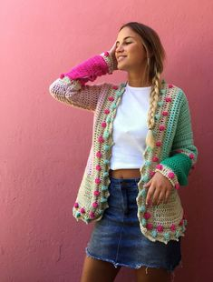 Free Ideas Gorgeous Crochet Cardigan Patterns for Women New 2020 - Page 17 of 30 - crochetsample. com : crochet cardigan; Crochet Coat, Crochet Cardigan Pattern, Crochet Jacket, Crochet Blouse, Crochet Shawl, Crochet Clothes, Easy Crochet, Crochet Vests, Shrug Pattern