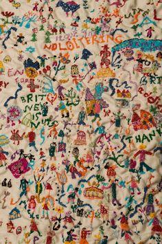 Greek embroidery artist Loukia Richards