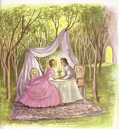 Happily Ever After  from Cinderella, An Old Favorite With New pictures,illustrated by Ruth Ives,1954