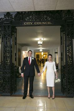 Small, Classic Philadelphia City Hall Wedding captured by Heidi Roland Photography