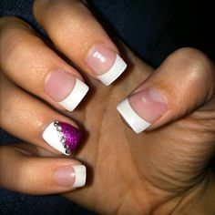 Prom nails! #prom #nails #hotpink