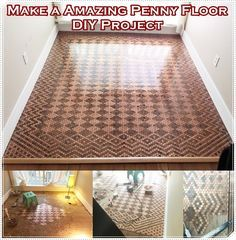 "Make a Amazing Penny Floor DIY Project  Homesteading  - The Homestead Survival .Com     ""Please Share This Pin"""