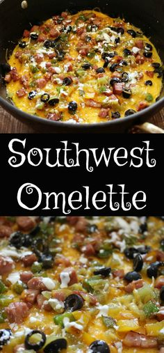 Open Faced Southwest Omelette
