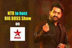 Young tiger NTR Jr first time on Small Screen and hosting a Television Show. NTR has signed a deal with Star MAA channel to host Bigg Boss reality show in Telugu. As the makers were hellbent on roping in a star to host the show in Telugu, NTR was report Boss Show, Tvs, Telugu, First Time, Channel, Film, Movie Posters, Movie, Film Stock
