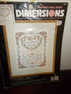 United Hearts Dimesions Counted Cross Stitch Kit by RomanceWriter