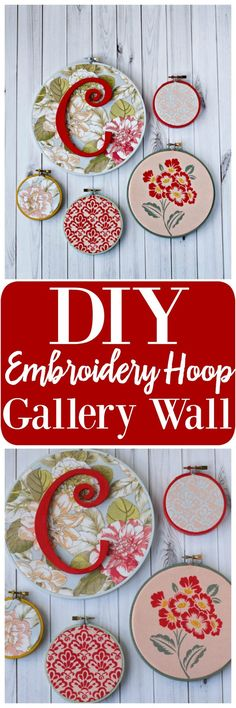 DIY Embroidery Hoop Gallery Wall #WaverlyInspirations #InAWaverlyWorld AD
